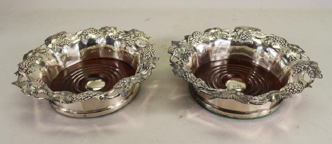 Silverplate Grape & Vine Form Coasters