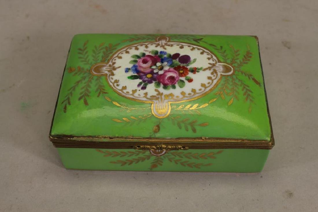 Antique French Porcelain Dresser Box