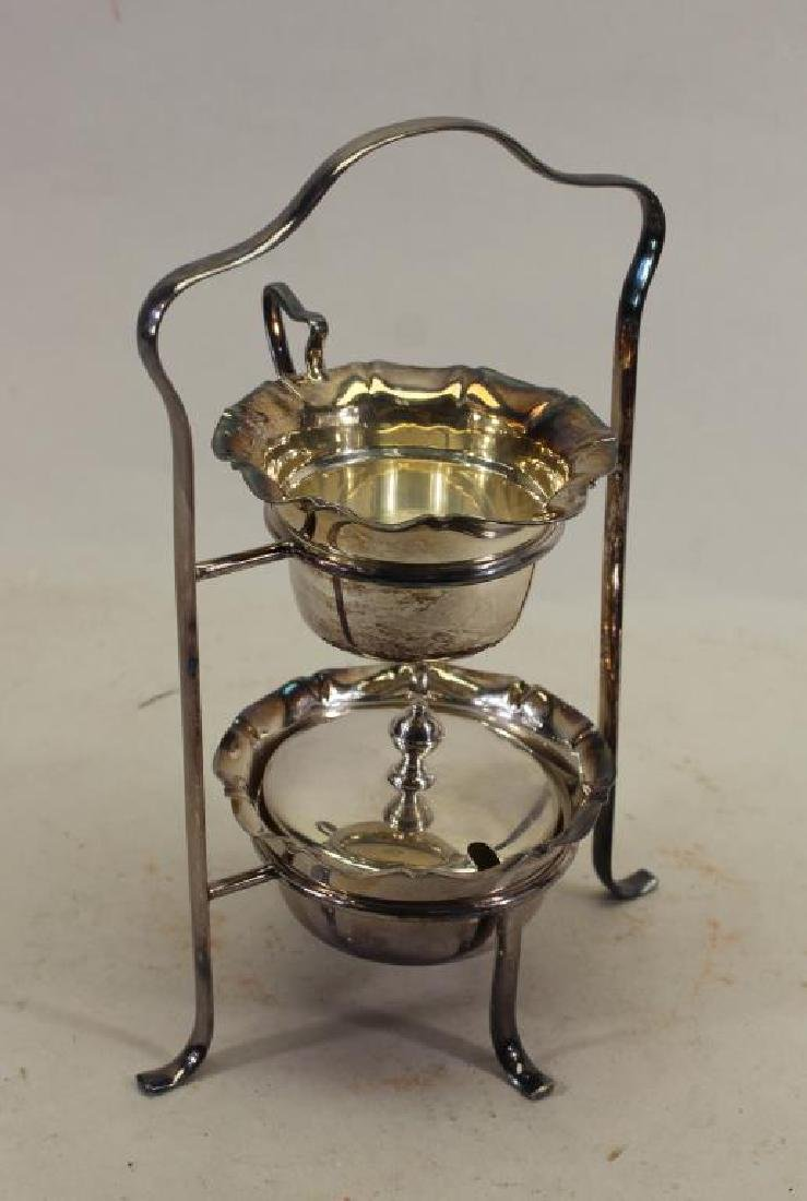 (4) Pc Silverplate Condiment Stand
