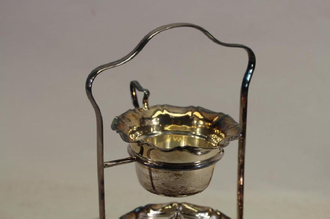 (4) Pc Silverplate Condiment Stand - 2