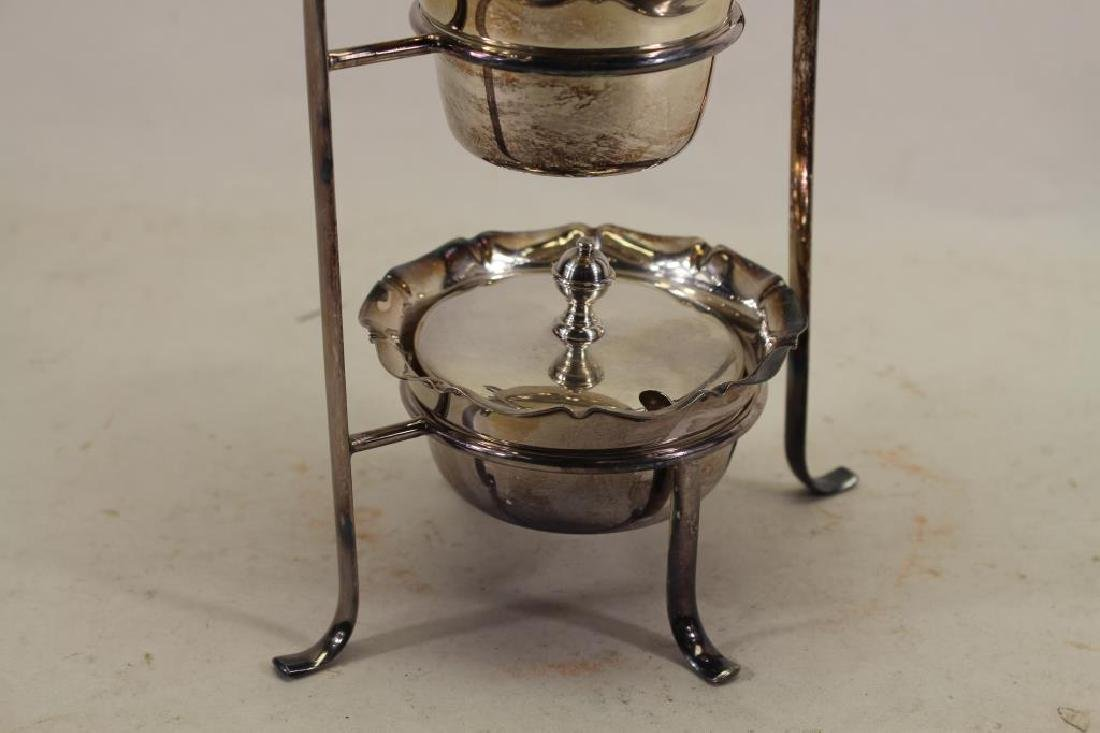 (4) Pc Silverplate Condiment Stand - 3