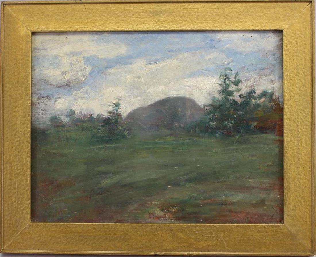 Antique Painting of Wooded Landscape