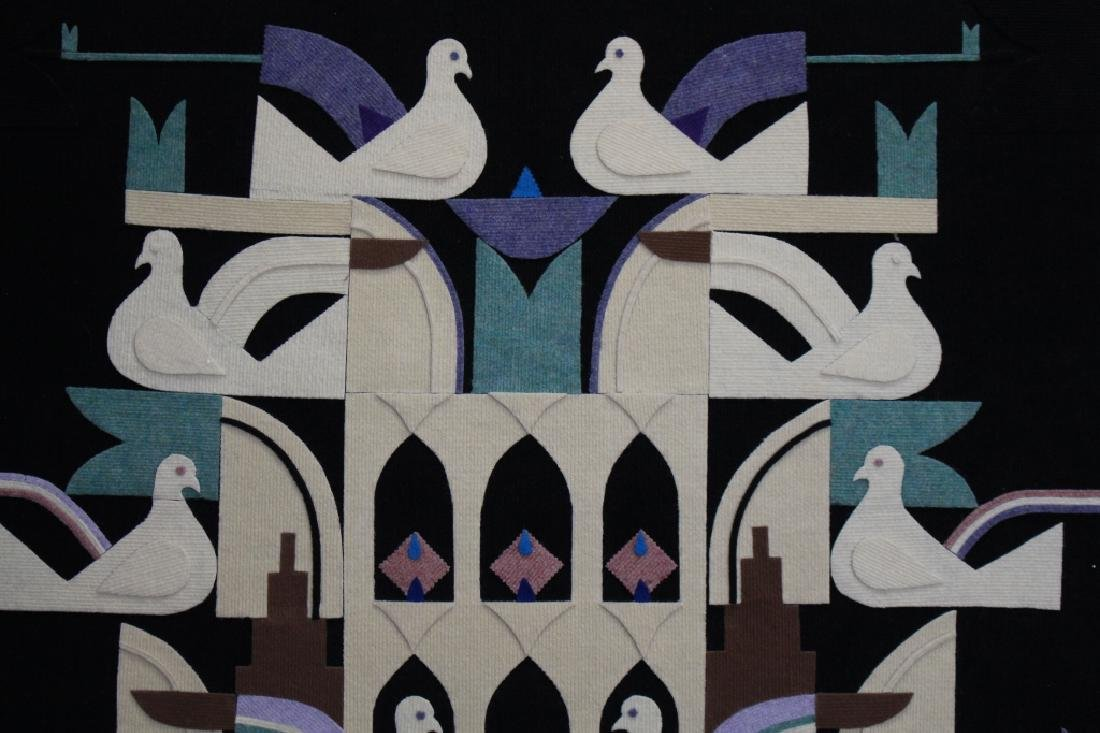 Vintage, Doves of Peace Wall Hanging, Signed - 2
