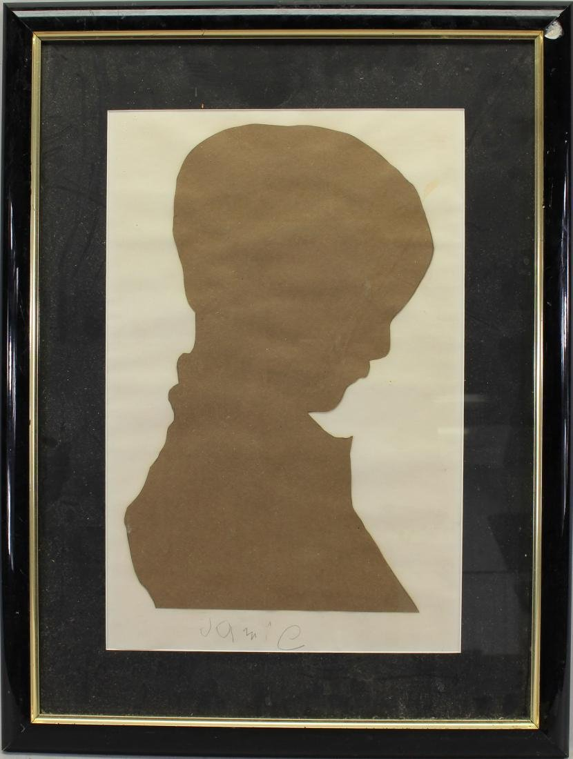 """Jamie"" Signed Silhouette Composition"
