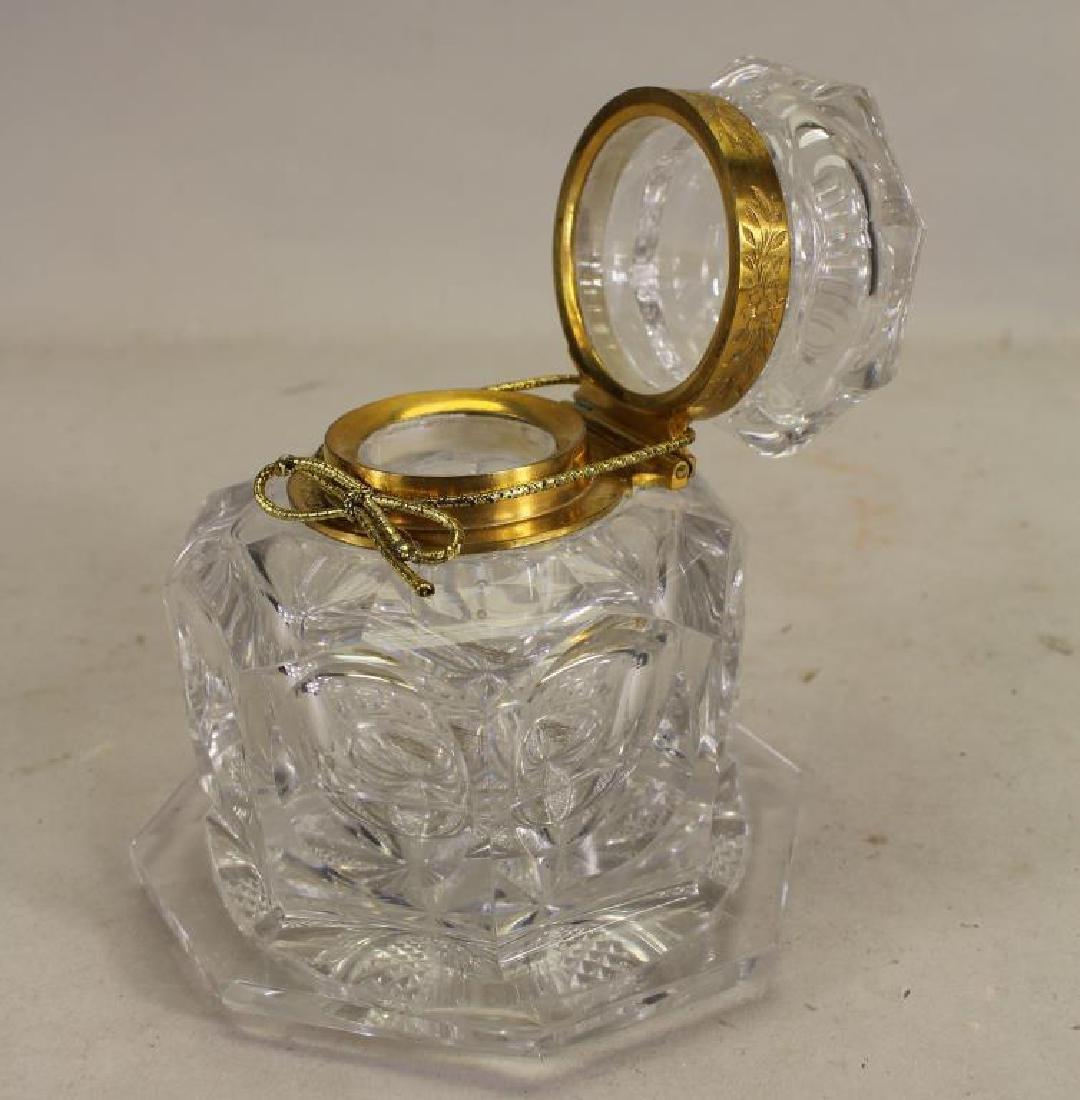 Gilt/Glass Container