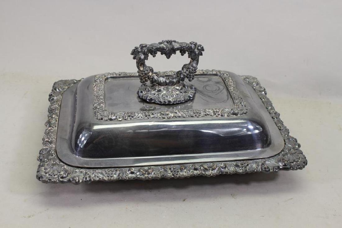 Antique Silverplate Covered Vegetable Dish