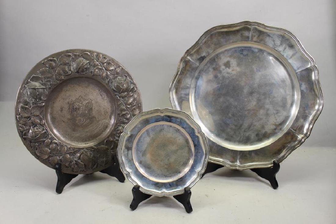 (3) .830 Silver Dishes