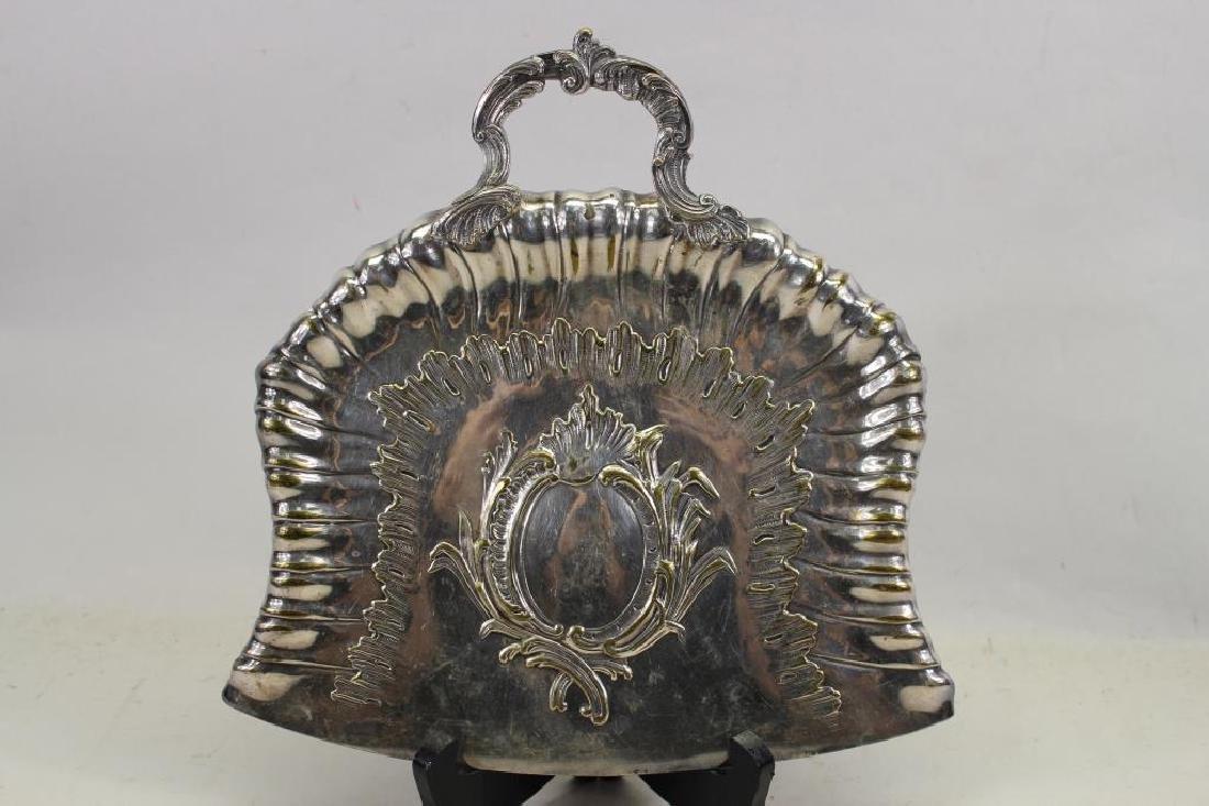 A Frenais, Signed Silvered Bronze Dustpan