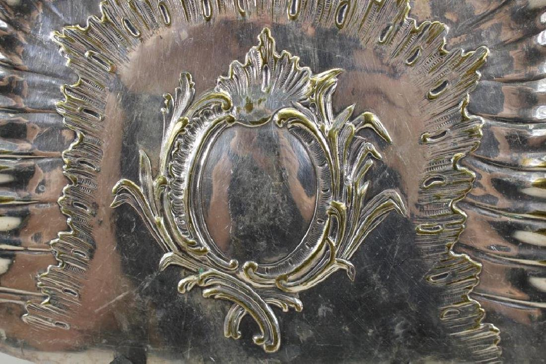 A Frenais, Signed Silvered Bronze Dustpan - 2