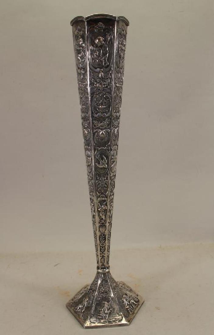 Figural Silverplate Vase