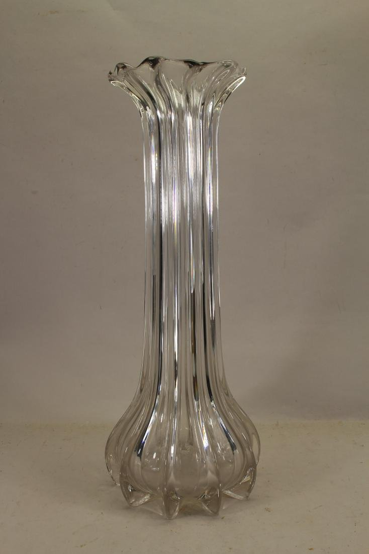 Large Vintage Glass Vase