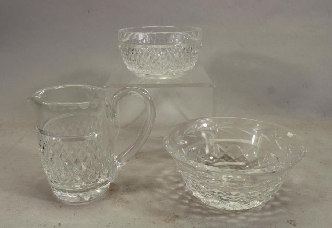 (3) Glass Articles, Two Signed Waterford