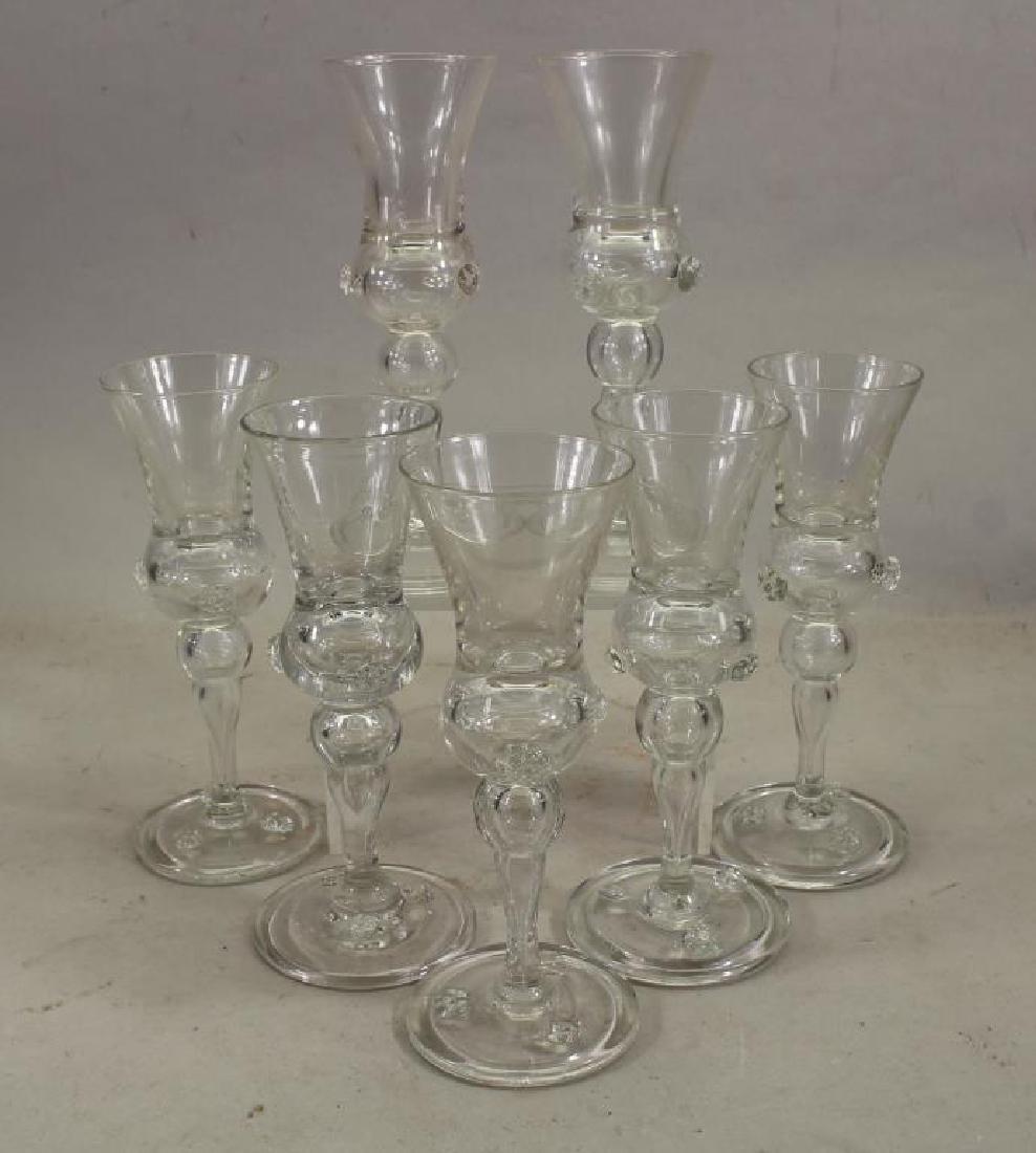 (7) Steuben Style Glass Stemware - 2