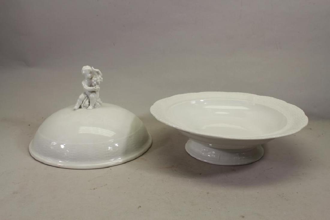Antique European Porcelain Covered Dish - 4