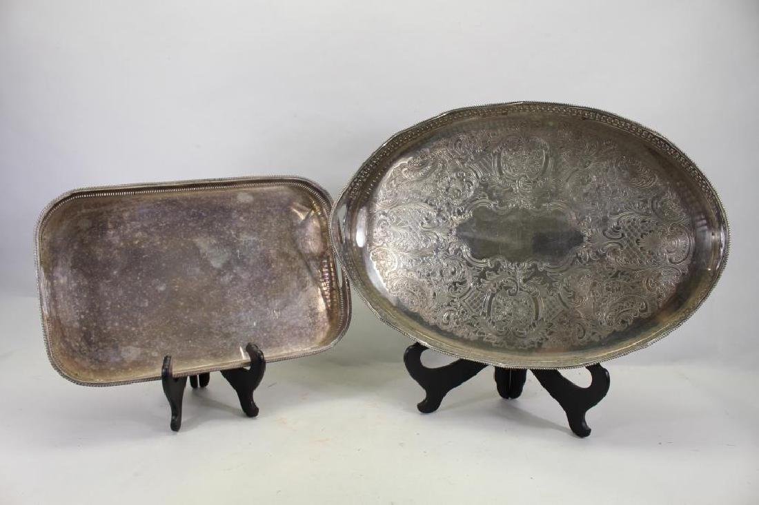 (2) Silverplate Serving Trays