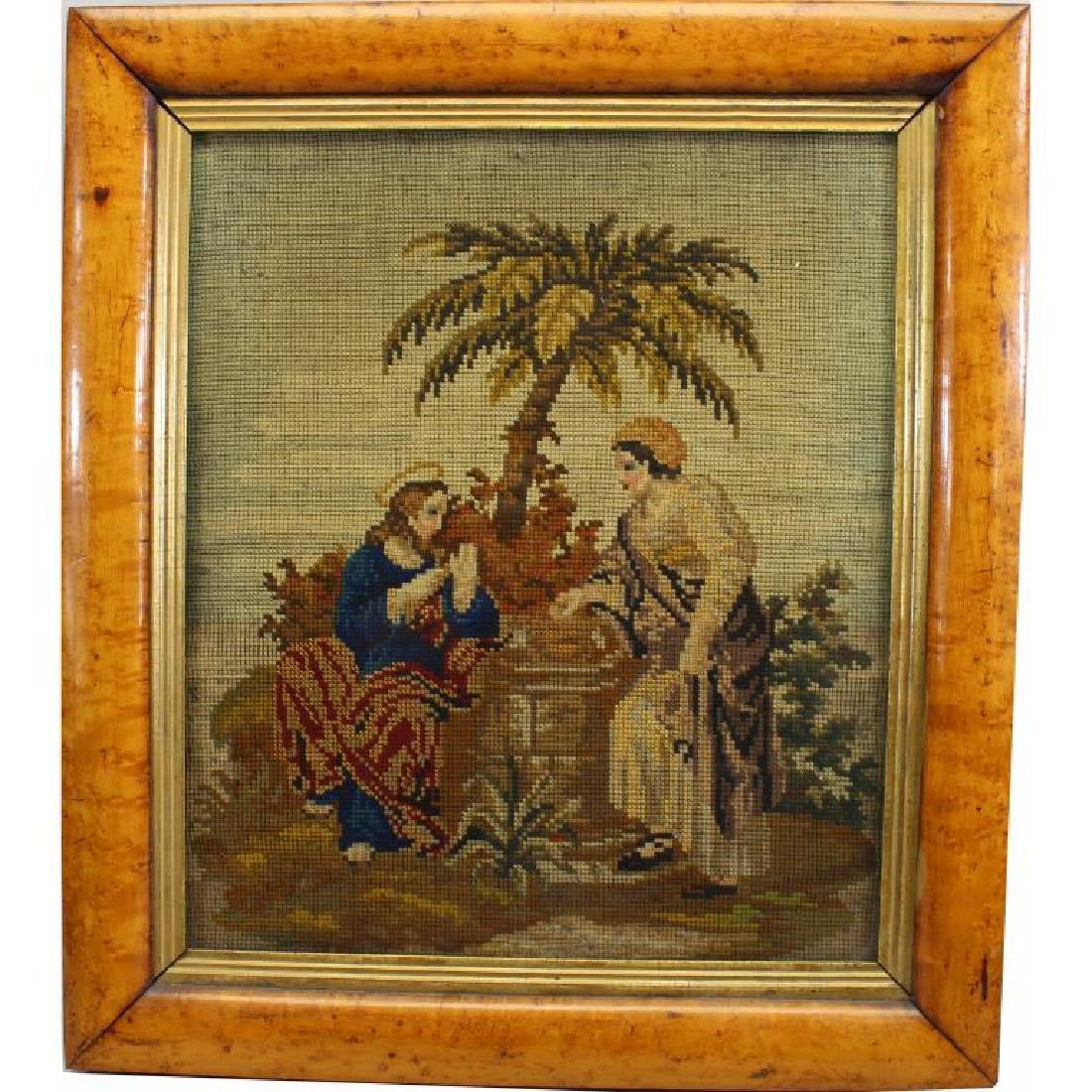 Framed Tapestry, Bird's Eye Maple Frame