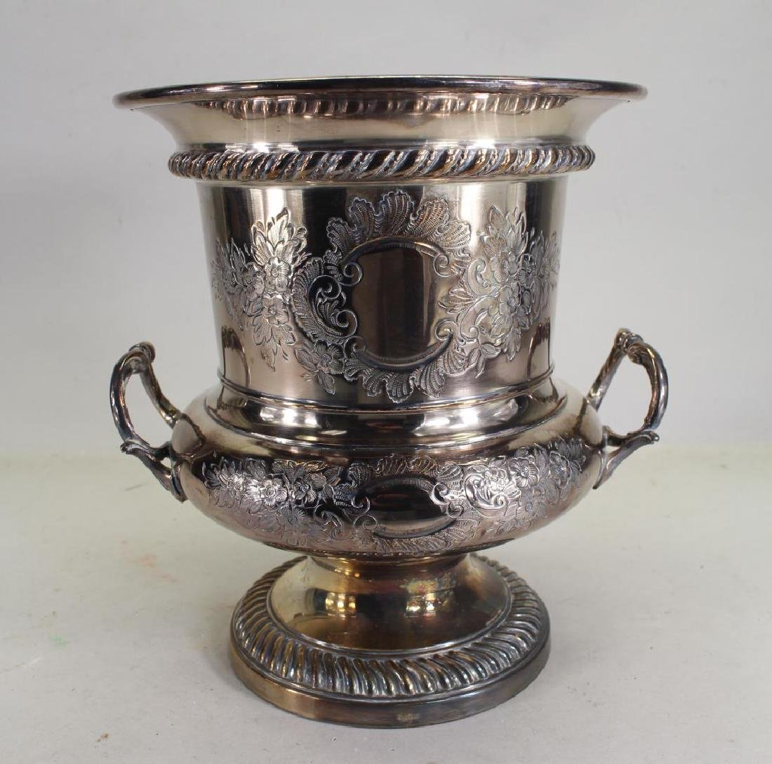 Twin Handled Silverplate Wine Cooler