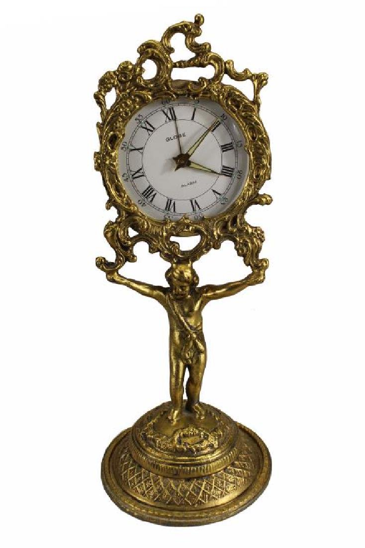 German, Gilt Bronze Cherubic Clock
