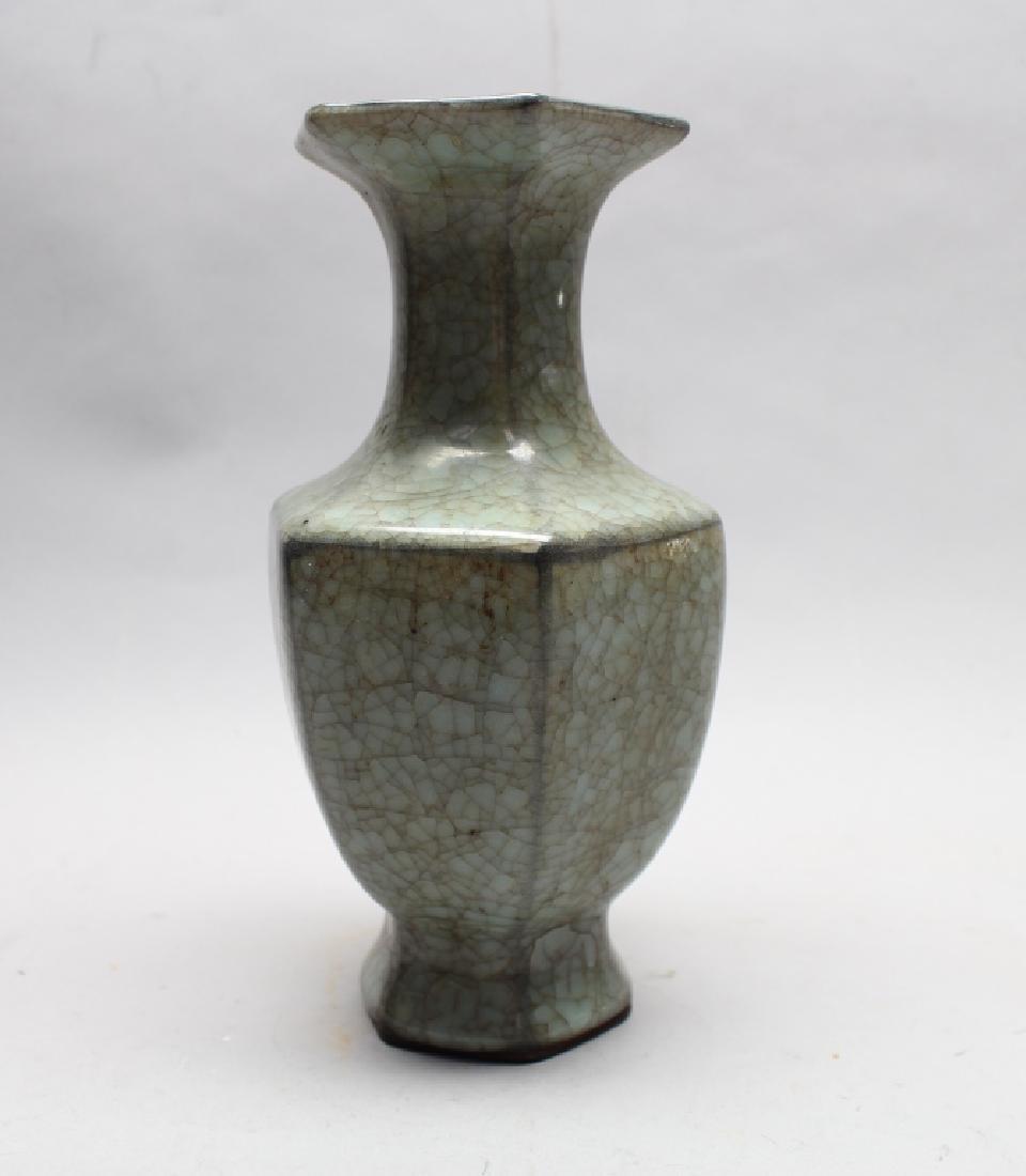 Hexagonal Signed Antique Chinese Vase
