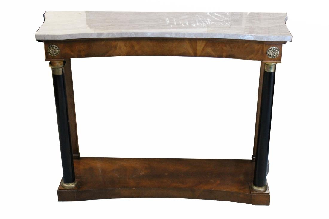 French Style Marble Top Console Table