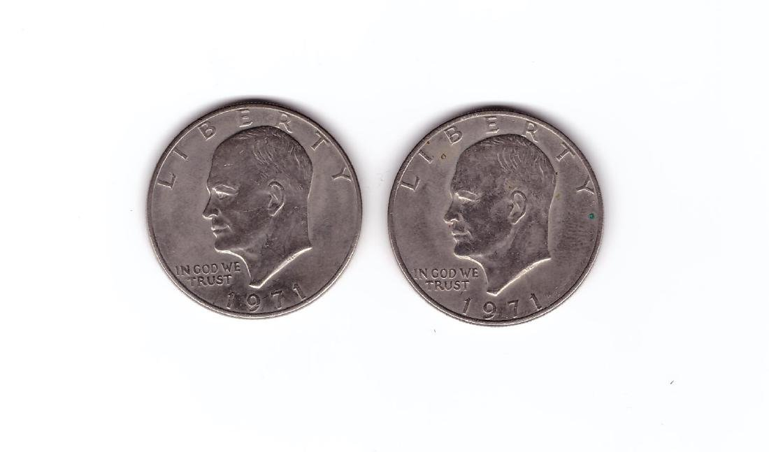 (2) 1971 Eisenhower Dollar