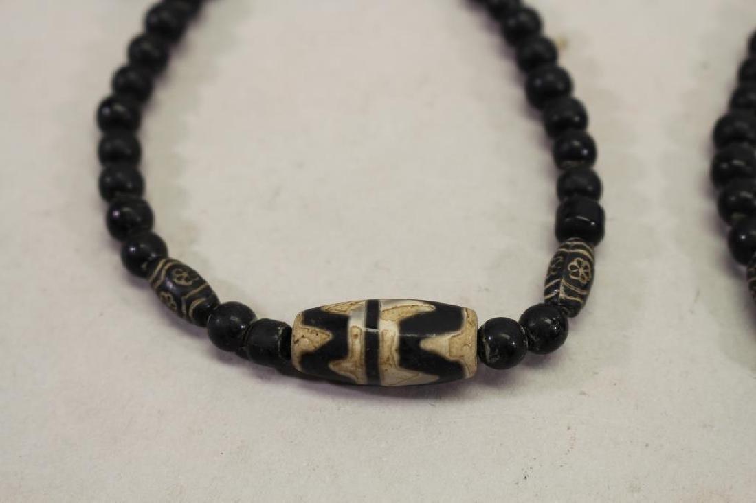 (2) Black Beaded Bracelets - 2