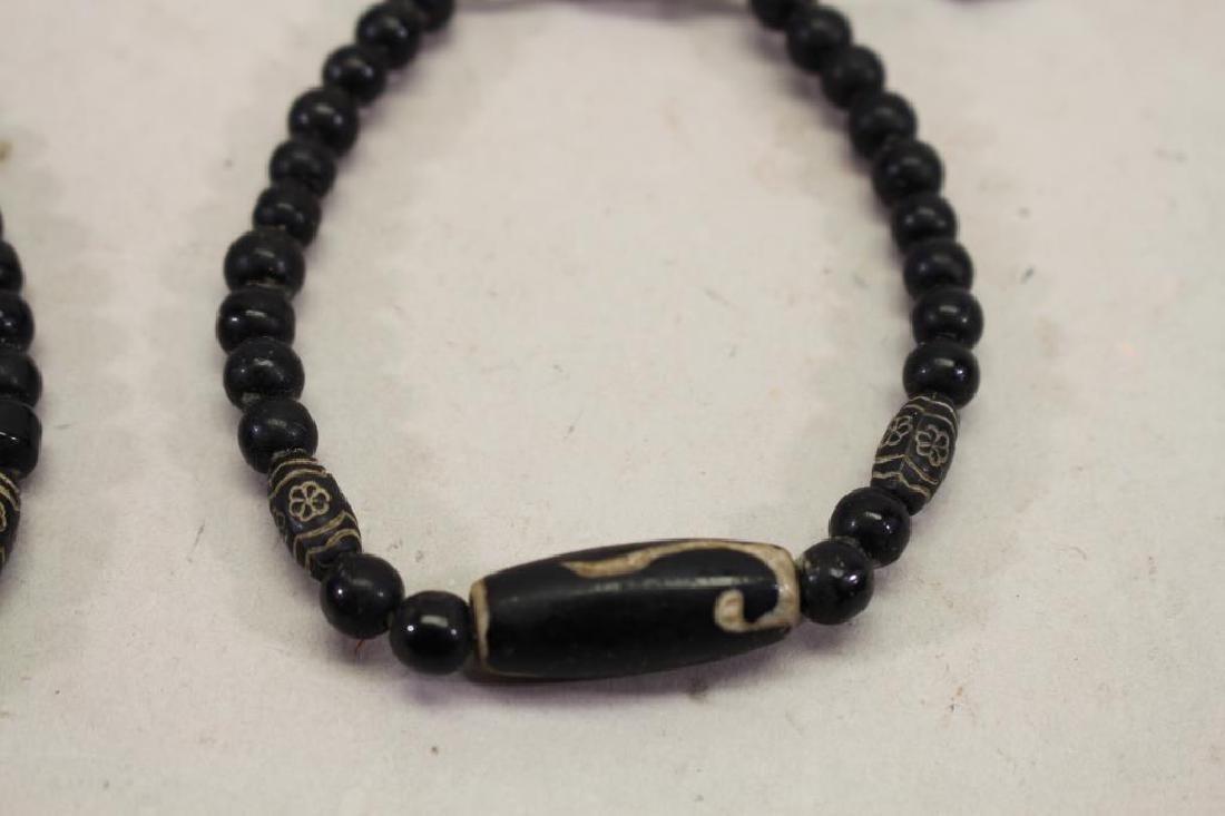 (2) Black Beaded Bracelets - 3