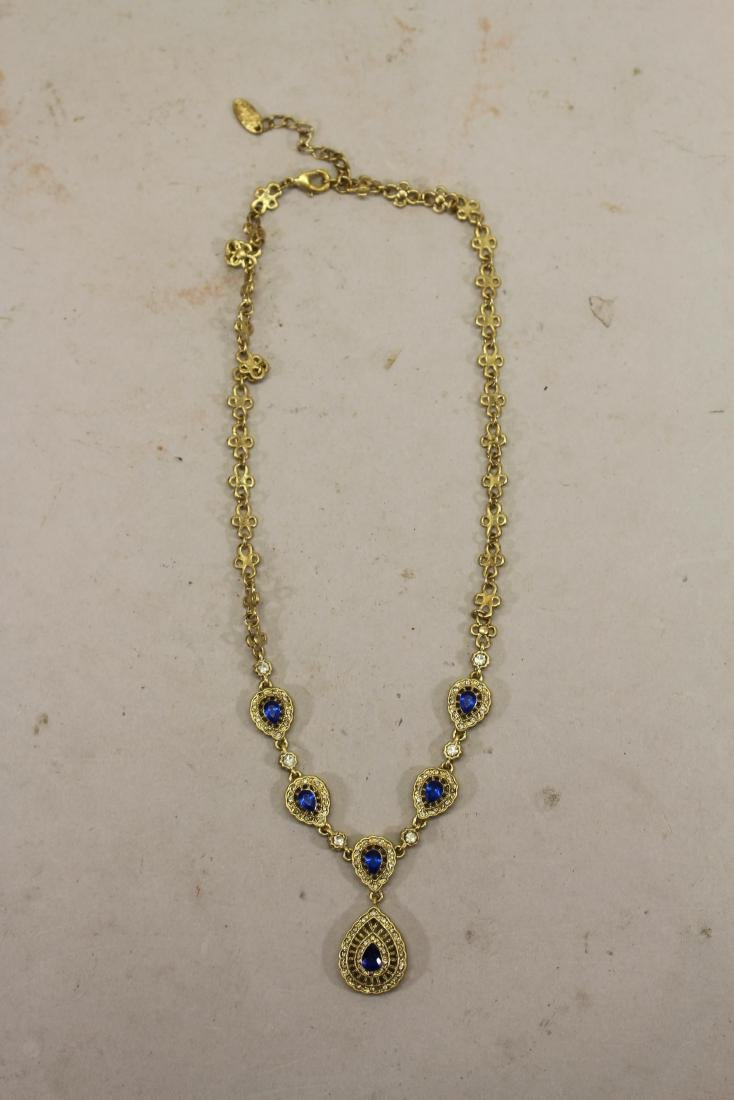 Blue Mixed Stone Necklace