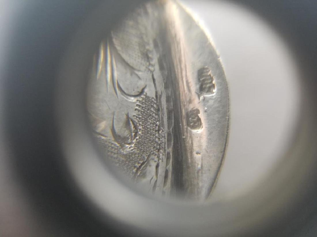 800 Silver Hand Engraved Compact - 6