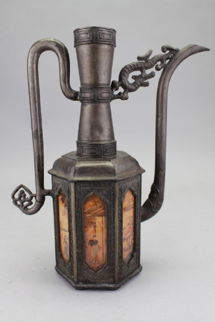 Chinese Pewter Pitcher