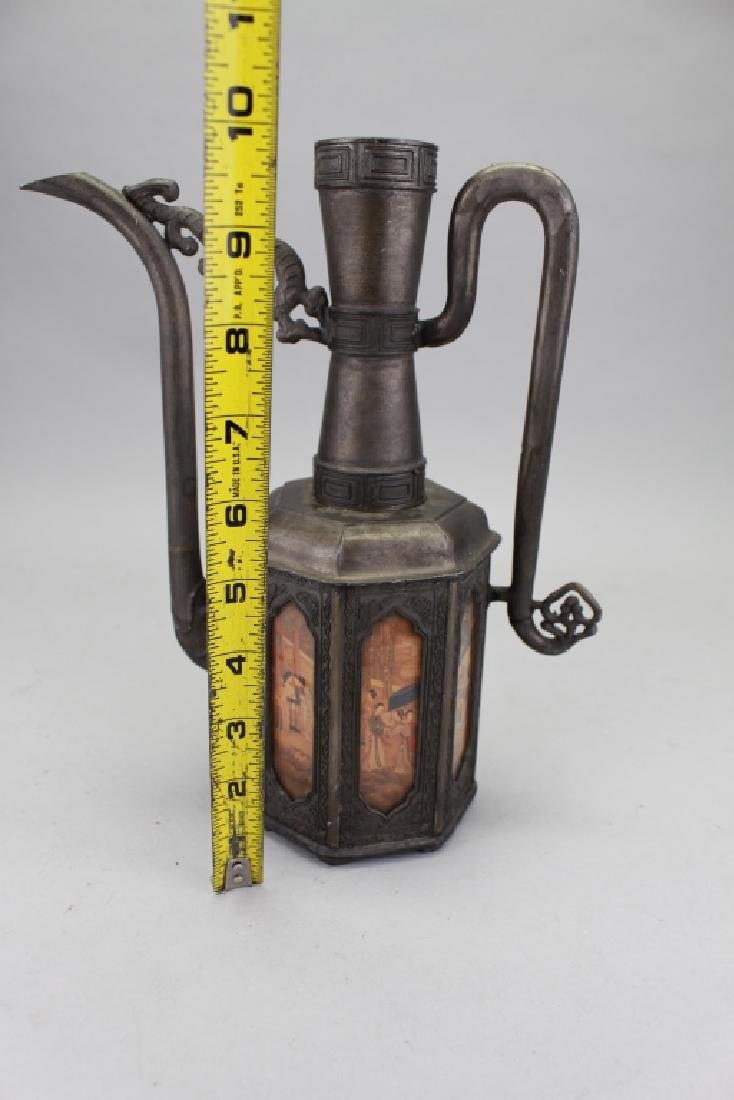 Chinese Pewter Pitcher - 6