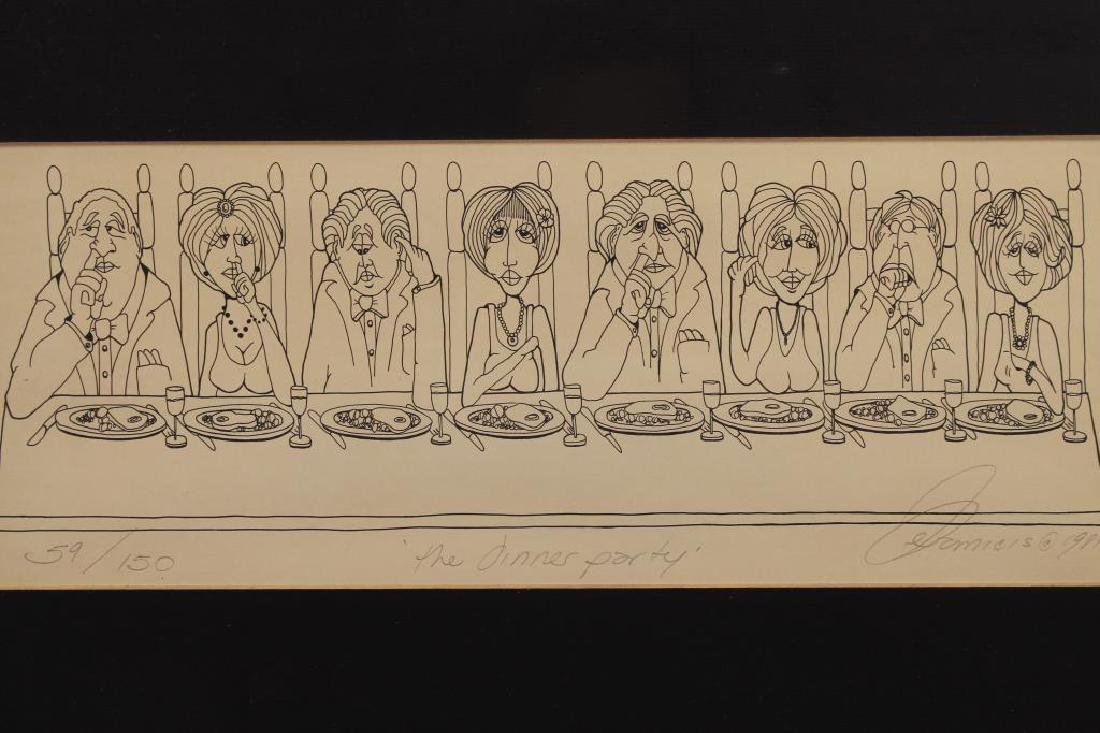 """The Dinner Party"" 59/150 Lithograph - 2"