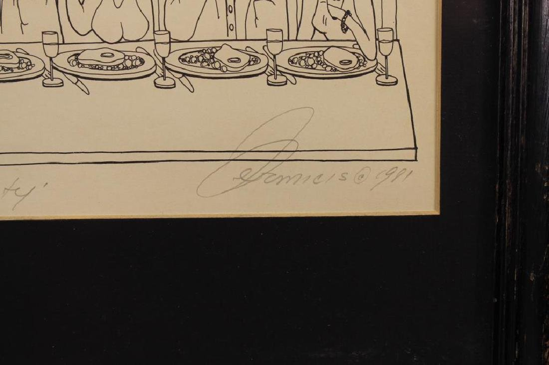 """The Dinner Party"" 59/150 Lithograph - 3"