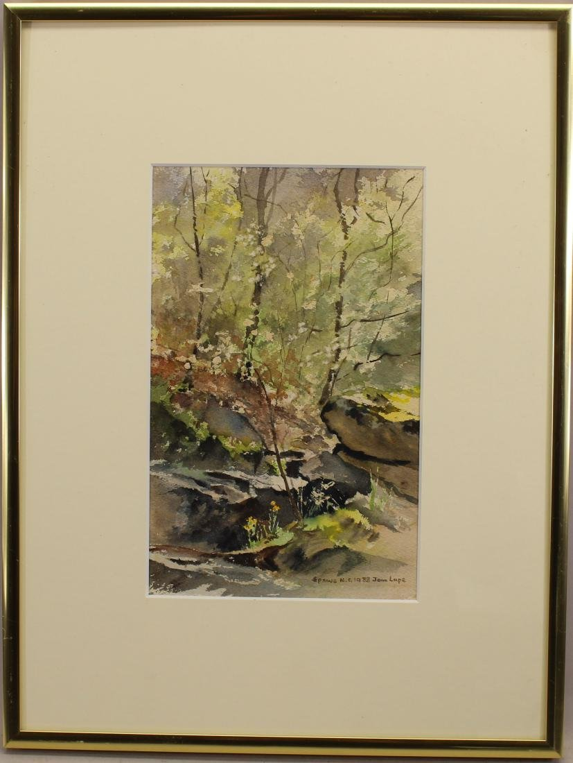 """Spring NC 1983"" Signed Watercolor"