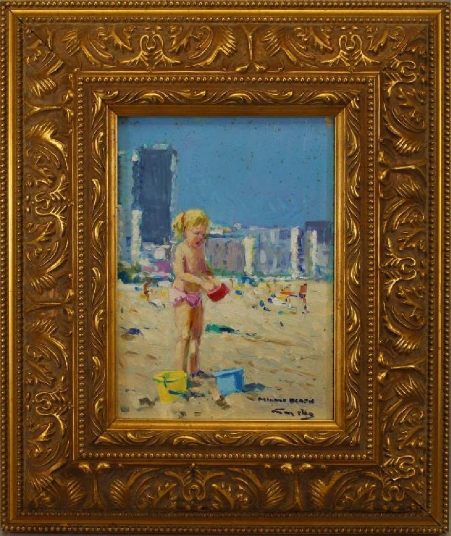 """""""Miami Beach"""" Niek Van der Plas (born 1954)"""