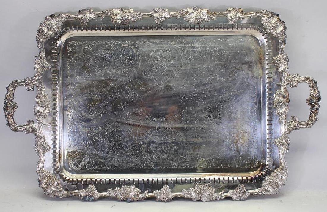 Twin Handled Silverplate Serving Tray
