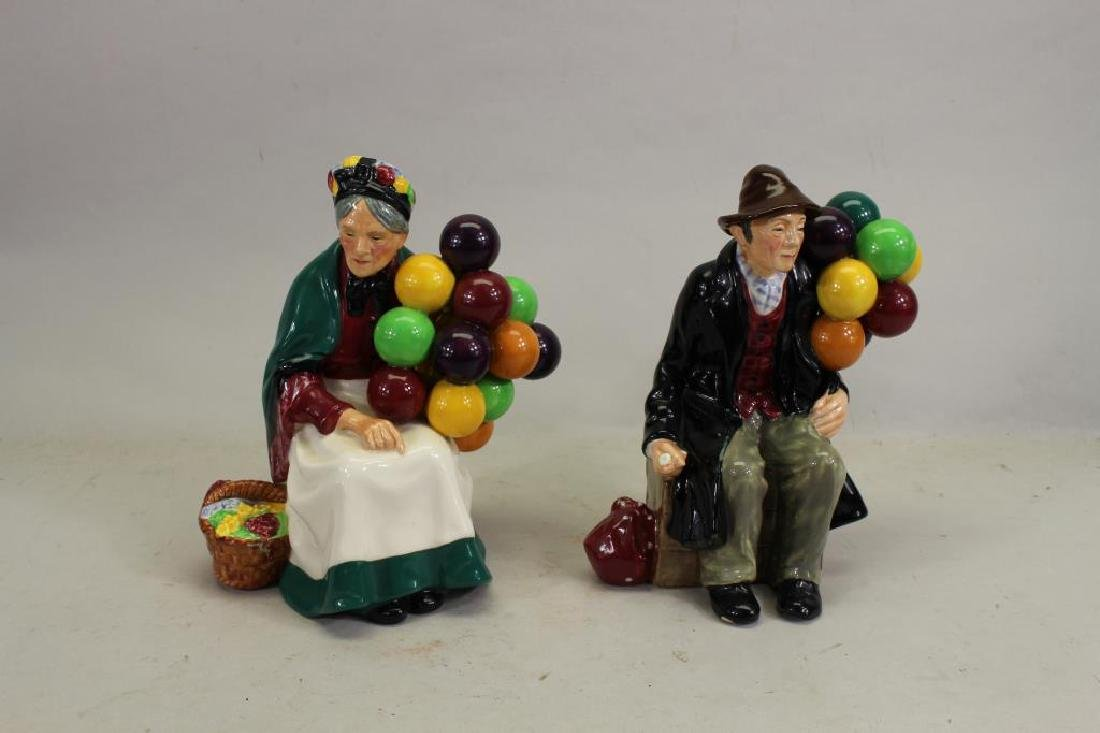 Pair of Royal Doulton Porcelain Figurines