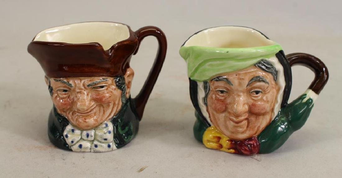 (2) Minature Royal Doulton Toby Mugs