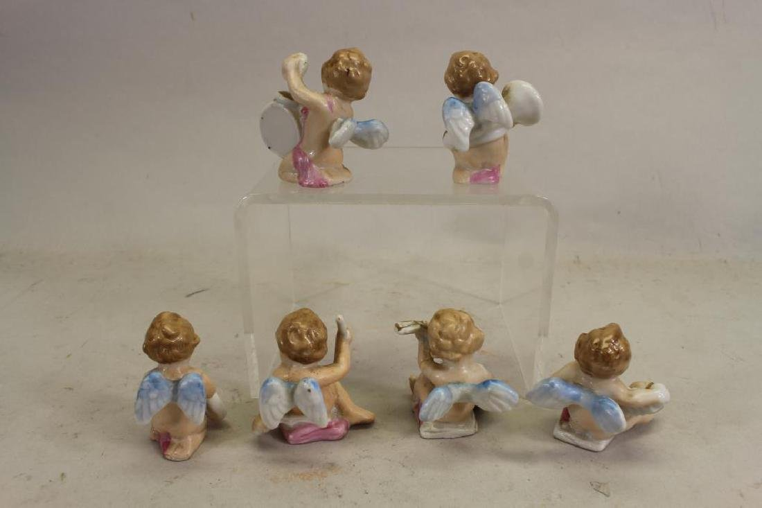 (6) Miniature Japanese Painted Porcelain Cherubs - 5