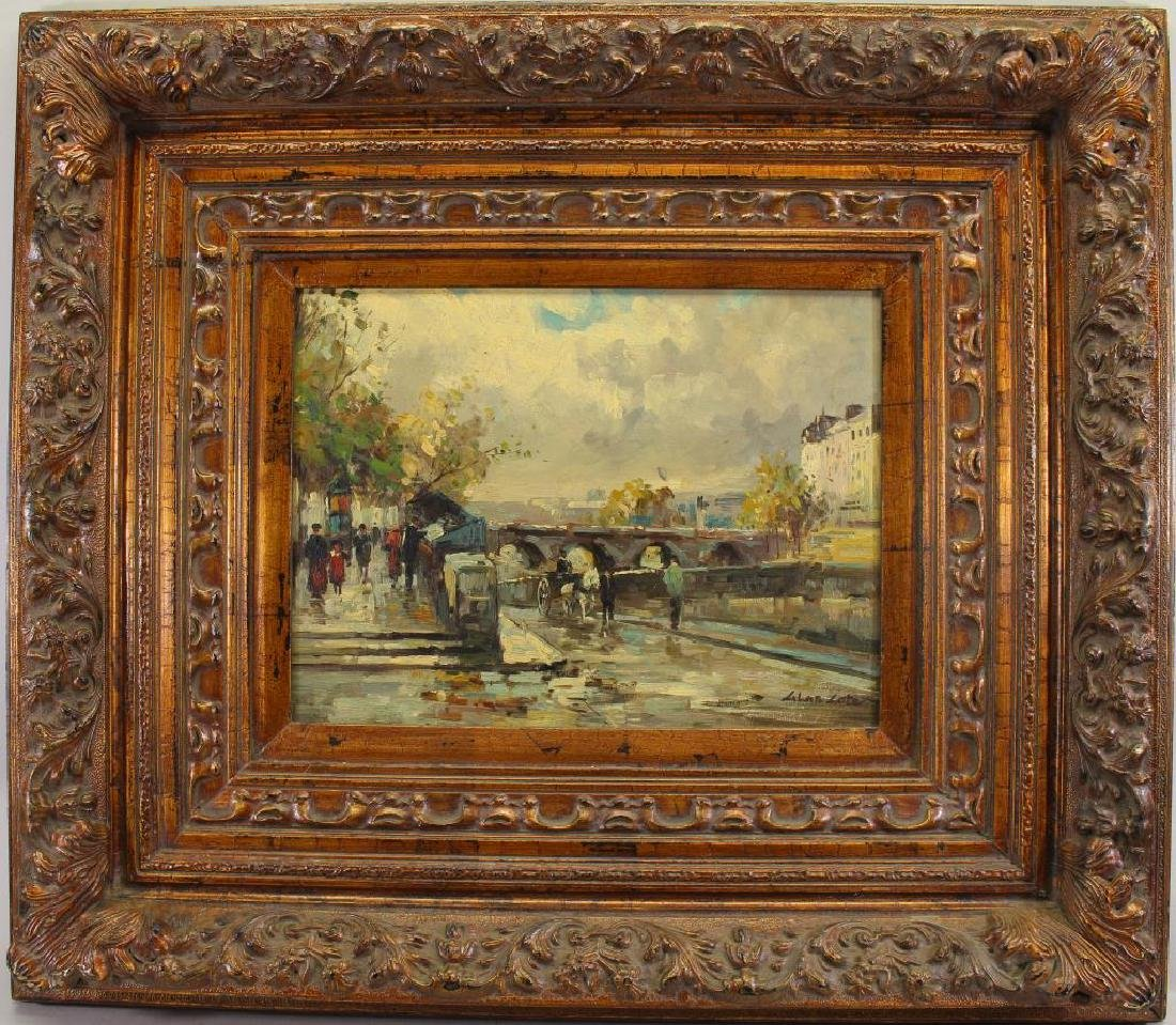 Signed, 20th C. French Street Scene