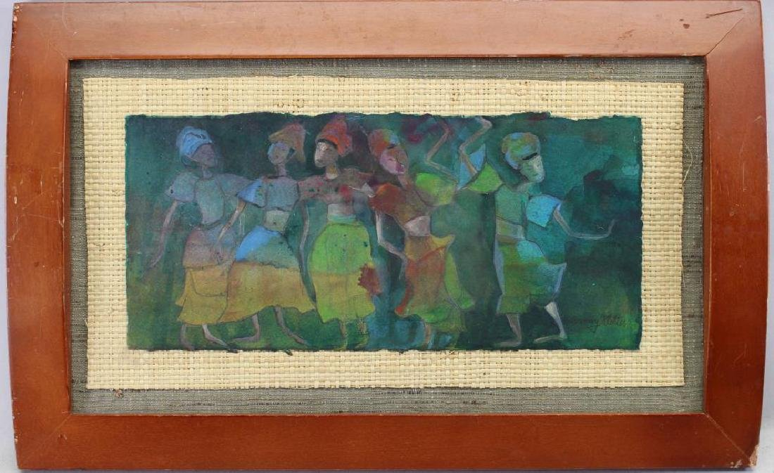 Sandy klotter, Signed 20th C. Abstract W/C