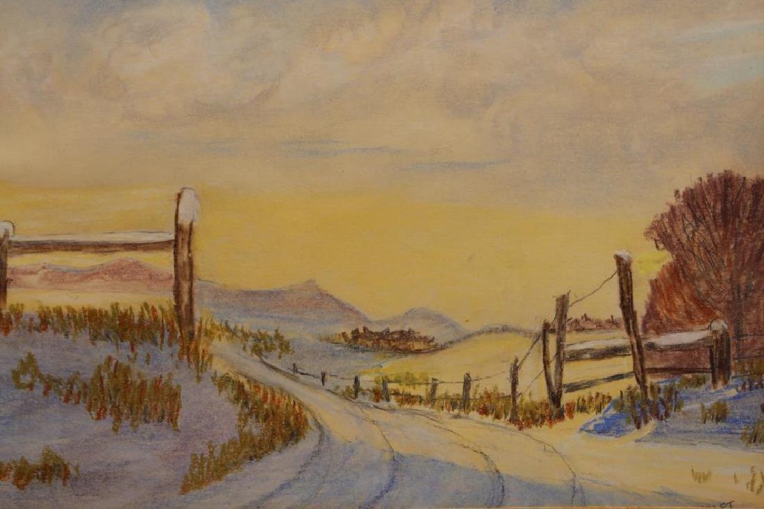 Signed American School Western landscape - 2