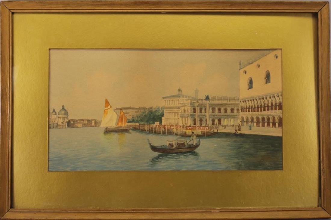 Signed, Grand Canal Venetian Watercolor