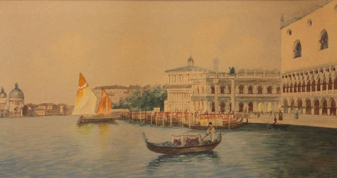Signed, Grand Canal Venetian Watercolor - 2