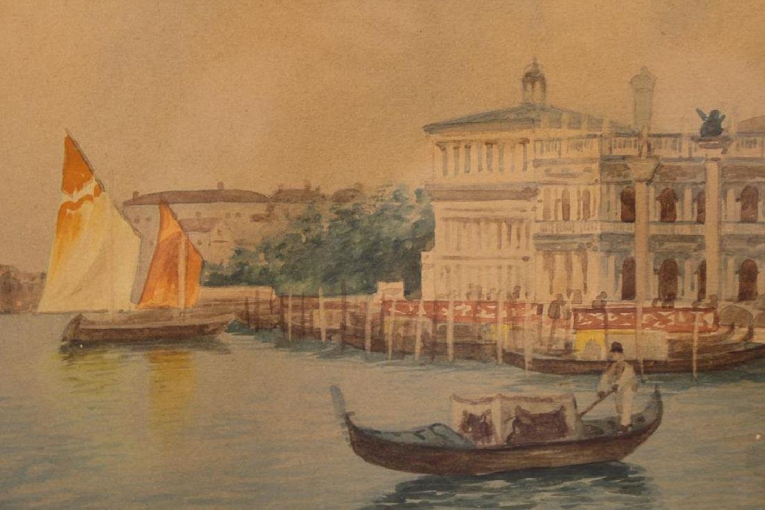 Signed, Grand Canal Venetian Watercolor - 3