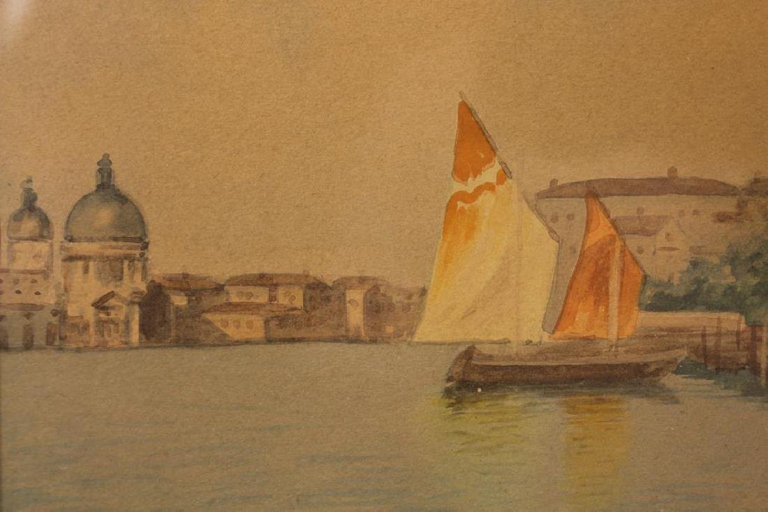 Signed, Grand Canal Venetian Watercolor - 4