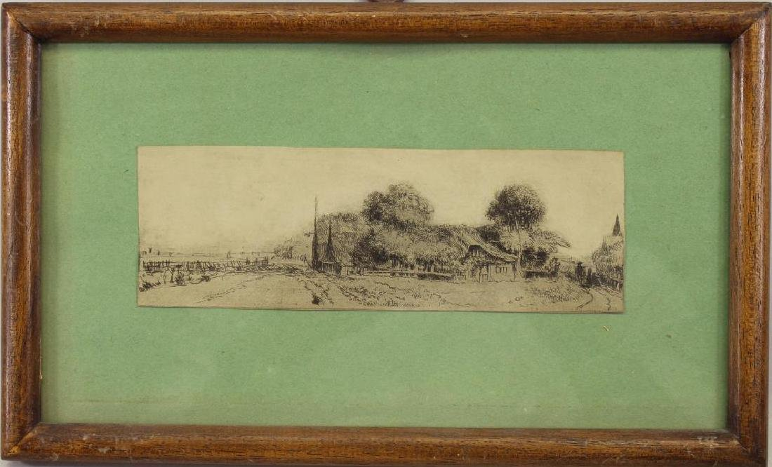 After Rembrandt, Framed Print of a Cottage