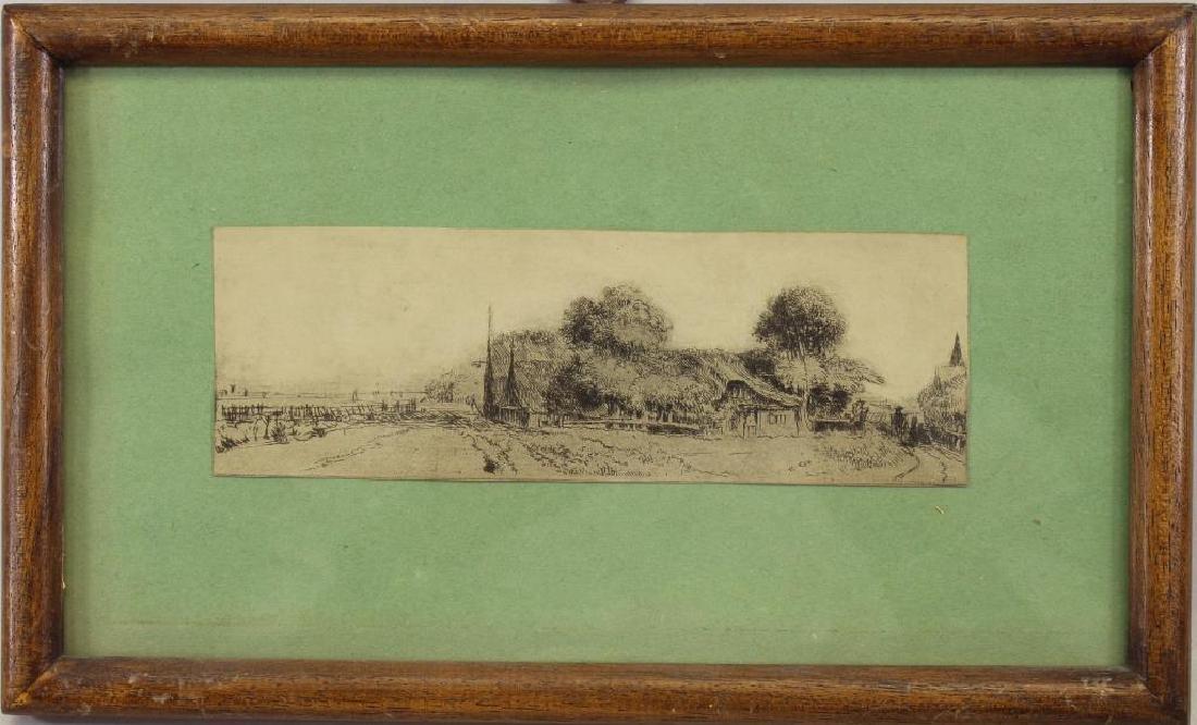 After Rembrandt, Framed Print of a Cottage