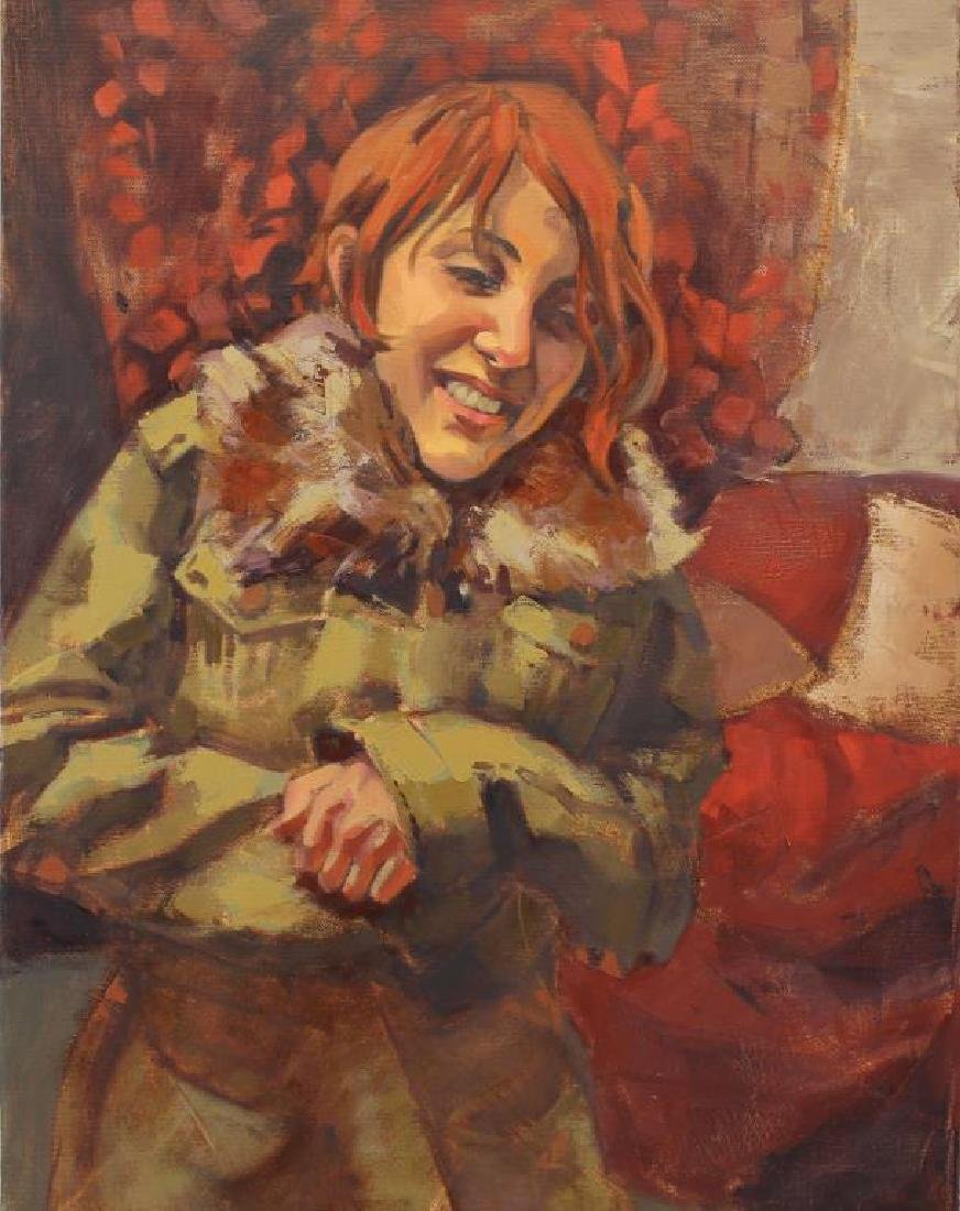 American School, Painting of a 20th C. Woman