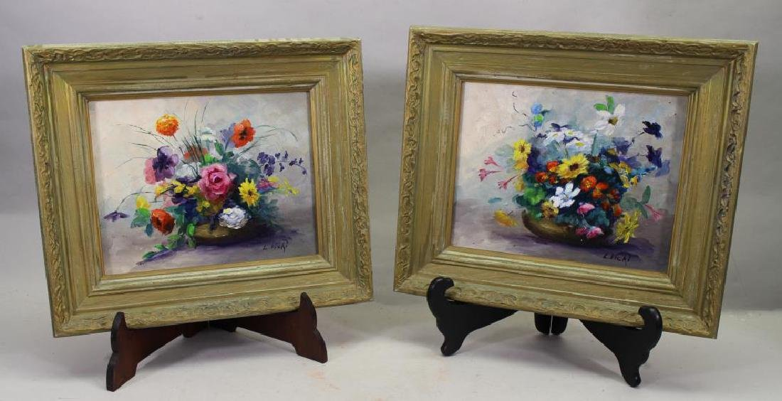 Signed, Pair of American School Still Life Ptgs